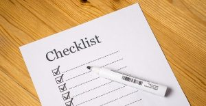 Creating a moving checklist and writing down moving hacks.