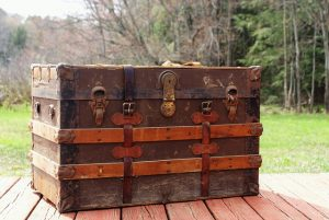 An old luggage chest.