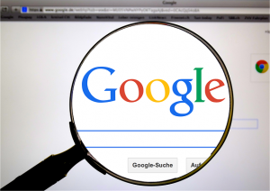 A look at the Google search engine through a magnifying glass.