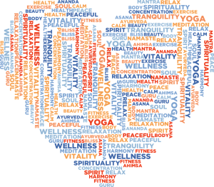 A heart made of the words that represent the most important things in our lives.