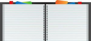 An open notebook to write down the plan for your moving to an equestrian property in Virginia.