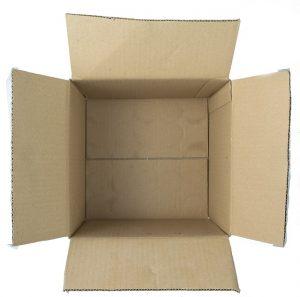 An empty cardboard box.