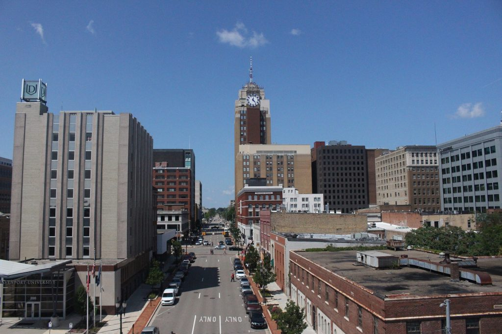 A building view of city in Michigan